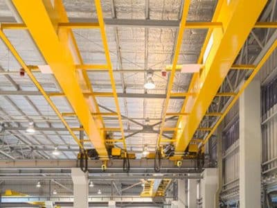 painting overhead cranes